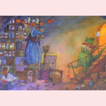 Postcard Daniela Drescher   Merlinde, die kleine Zauberin