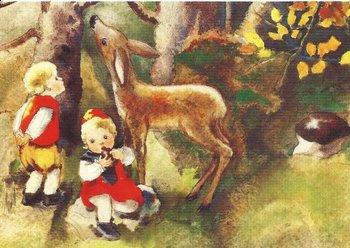 Postcard Mili Weber - Autumn Forest