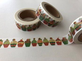 Washi Masking Tape | Christmas Cupcakes