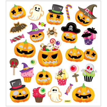 Halloween Pumpkin Seal Sticker