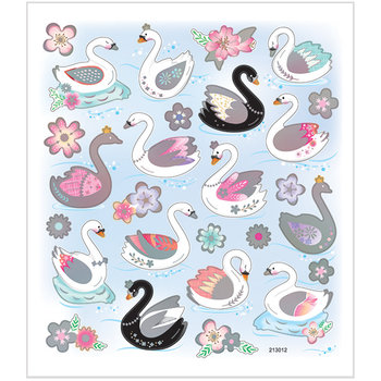 Seal Sticker with Silver Foil | Swans