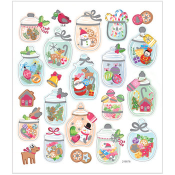 Seal Sticker with Glitter Foil | Christmas moods