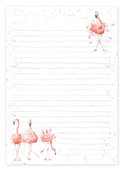Flamingo Jotter Pad - Wrendale Designs