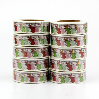 Washi Masking Tape | Kawaii Christmas Socks