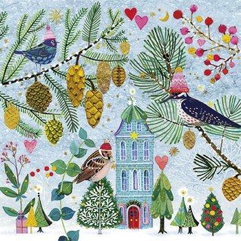 Mila Marquis Postcard Christmas | Birds in winter