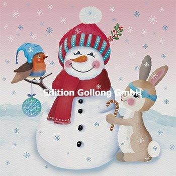 Sandra Brezina Postcard Christmas | Snowman
