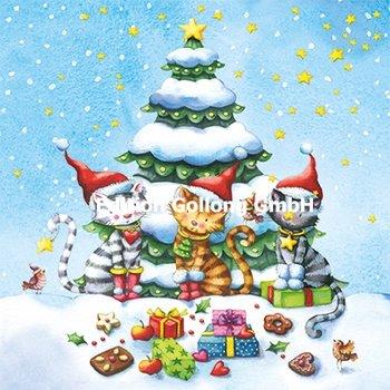 Nina Chen Postcard Christmas | Christmas Cats