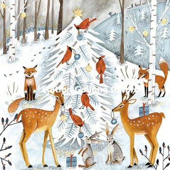 Cartita Design Postcard Christmas | Animals in the winter forest