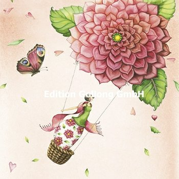 Nina Chen Postcard | Dahlia swing