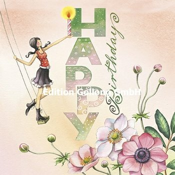 Nina Chen Postcard | Happy Birthday (Woman with candle)