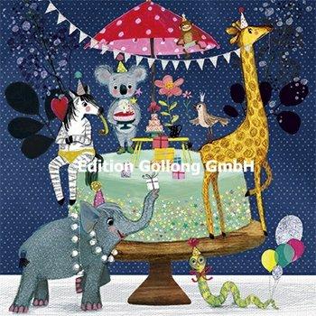 Mila Marquis Postcard | Animals celebrate birthday