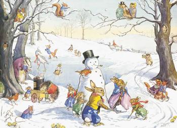 Postcard Molly Brett | Winter games