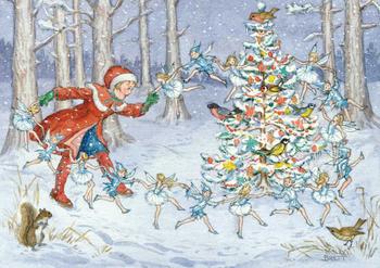Postcard Molly Brett | The Snow Fairies