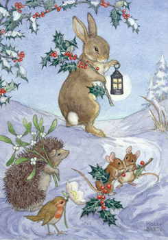Postcard Molly Brett | Christmas animals