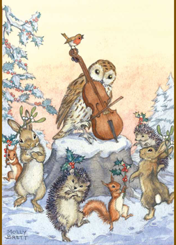 Postcard Molly Brett | A tune for Christmas