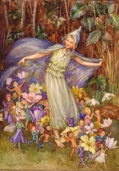 Postcard Margareth W. Tarrant   Springs Flowery Cloak