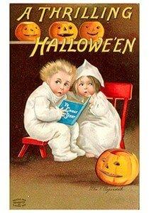 Victorian Halloween Postcard | A.N.B. - A thrilling Halloween