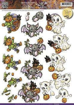 3D Cutting sheet - Yvonne Creation - Halloween - Cute Creatures