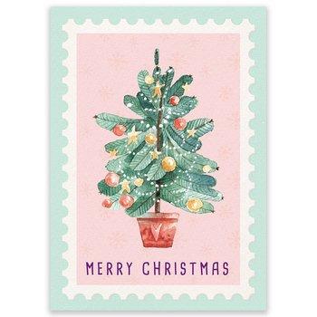 Postcard LittleLeftyLou | Christmas Tree Stamp