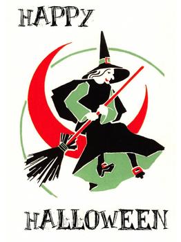 Postcard | Halloween -Happy Halloween Witch