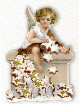 Shaped Postcard Edition Tausendschoen Specials   Christmas Angel WITH ENVELOPE