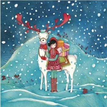 Mila Gablasova Square Postcard   Christmas