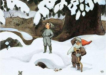 Elsa Beskow Postcard | Solägget (tomte)