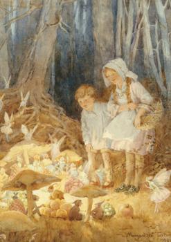 Postcard Margareth W. Tarrant   Fairy Market
