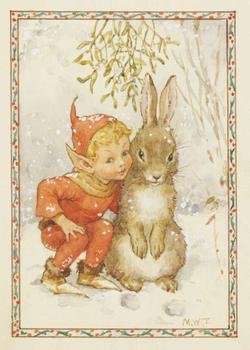 Postcard Molly Brett | 'An Elfin Greeting'