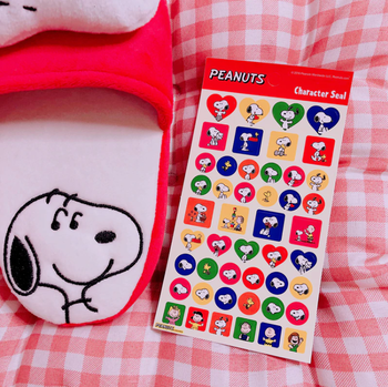 Snoopy Peanuts Character Seal Stickers | Red