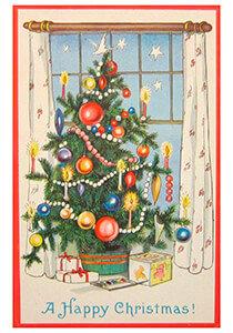 Postcard   Kerstboom met cadeaus