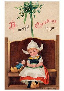 Victorian Postcard   A.N.B. - A merry christmas to you
