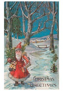 Postcard   Christmas greetings