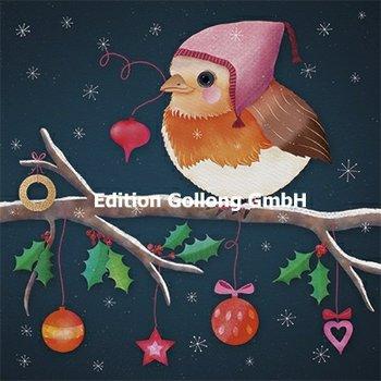 Sandra Brezina Postcard Christmas | Robin