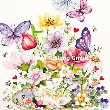 Sabina Comizzi Postcard | Flowers and butterflies