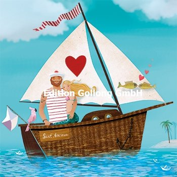 Mila Marquis Postcard | Sailor and mermaid