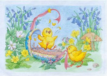 Postcard Molly Brett | Easter Chicks