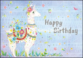 Wildblume by Tieneke Double Card | Happy Birthday (Lama)