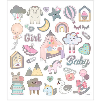Seal Sticker with Silver Foil | Baby Girl