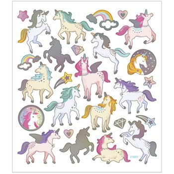 Seal Sticker with Silver Foil | Unicorn