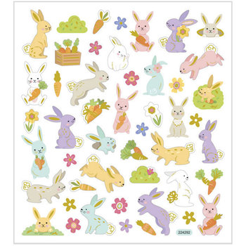 Seal Sticker with Gold Foil | Easter Bunny