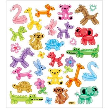 Seal Sticker with Glitter Foil | Balloon Animals