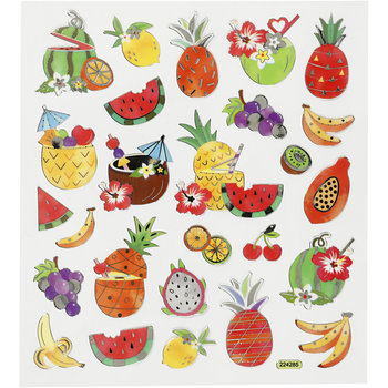 Seal Sticker with Silver Foil | Exotic Fruits
