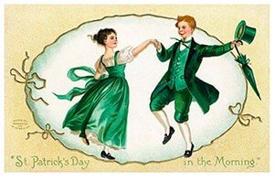 Victorian Postcard | A.N.B. - St. Patrick's Day in the morning