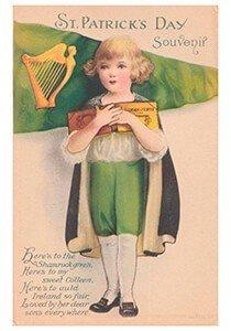 Victorian Postcard | A.N.B. - St. Patrick's Day