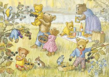 Postcard Molly Brett   Teddy Bears and Blackberries