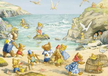 Postcard Molly Brett   Teddy Bear Beach