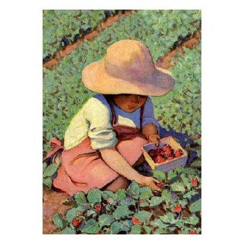 Postcard   Picking Strawberries