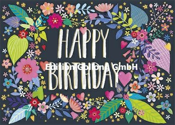 Mila Marquis Postcard | Happy Birthday (Leaves)