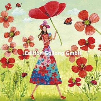 Mila Marquis Postcard   Vrouw met papaver